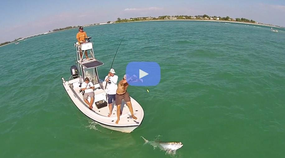 Drone Footage of Tarpon Fishing