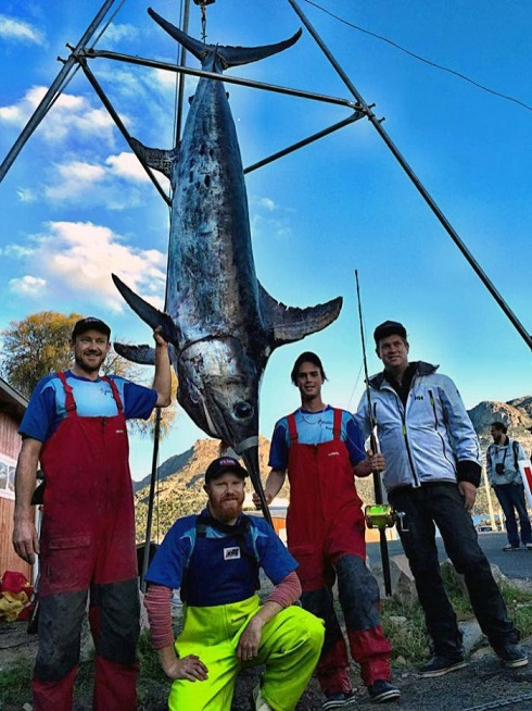 16 year old catches 580 lb swordfish off Tasmania