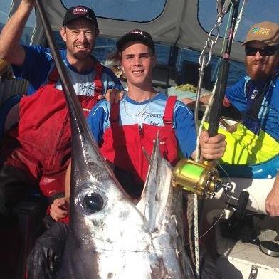 Tasmanian Teenager lands 580 pound swordfish
