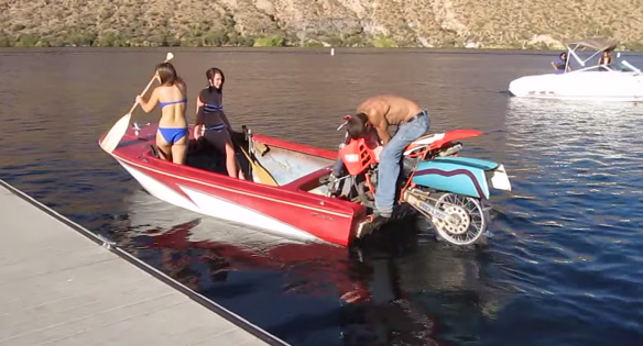 Boat powered by a Dirt Bike - An ACTUAL Dirt Bike