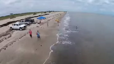 Surf Fishing With a Drone to Cast Your Bait Waaaay Out There