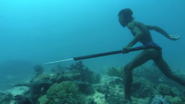 Underwater Sea Bed Hunting On One Breath of Air