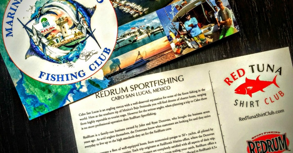 Red Tuna Fishing Shirt Club Postcard Fathers Day 2
