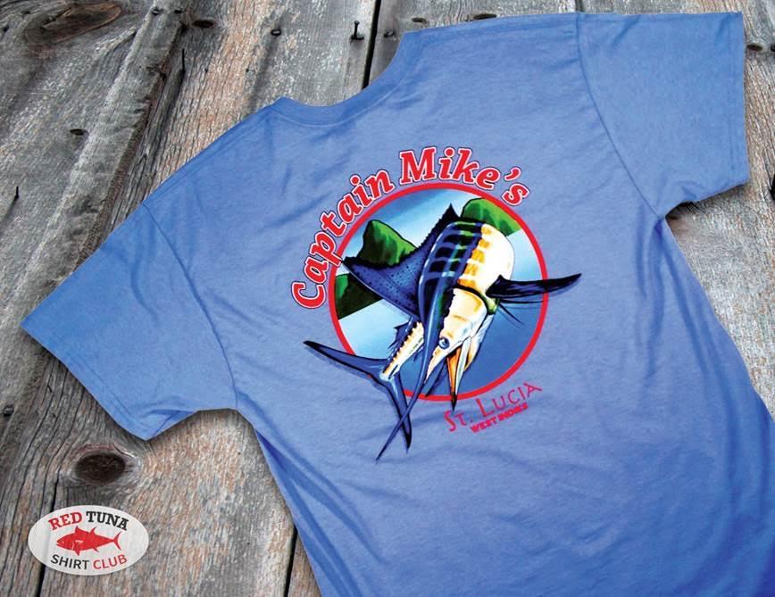 Red Tuna Fishing Shirt Club November - Capt Mikes  St Lucia 2