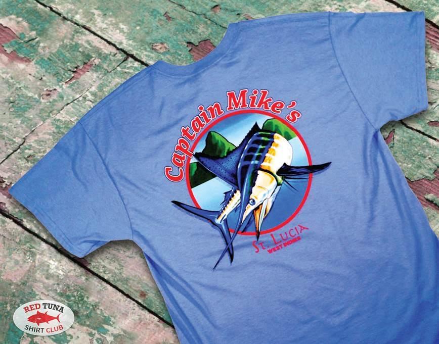 Red Tuna Fishing Shirt Club November - Capt Mikes  St Lucia