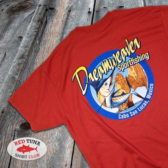 Red Tuna Fishing Shirt Club December - Cabo San Lucas Dreamweaver Sportfishing square