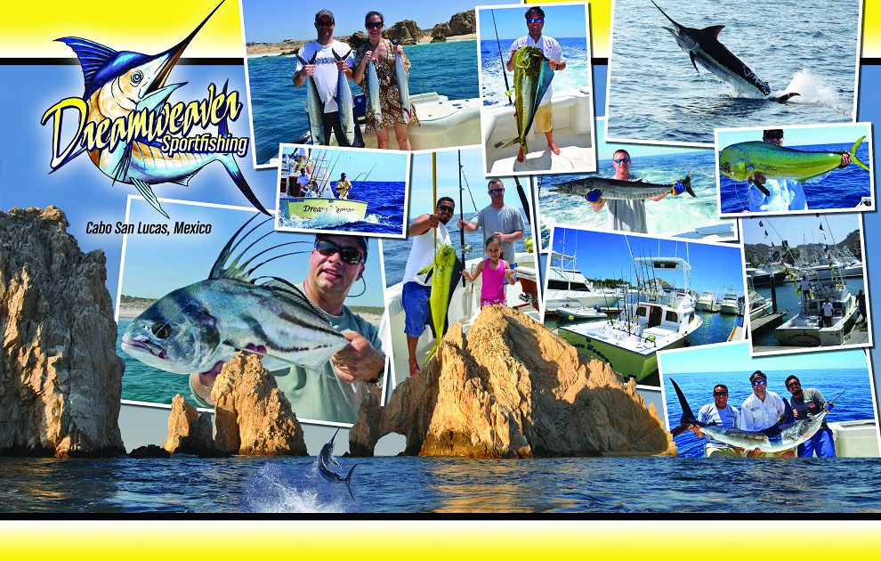 Red Tuna Fishing Shirt Club December - Cabo San Lucas Dreamweaver Sportfishing Postcard